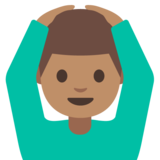 Man Gesturing OK: Medium Skin Tone on Google Android 7.1