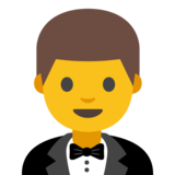 Man in Tuxedo on Google Android 7.1