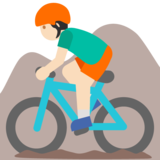 Man Mountain Biking: Light Skin Tone on Google Android 7.1