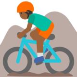 Man Mountain Biking: Medium-Dark Skin Tone on Google Android 7.1