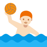 Man Playing Water Polo: Light Skin Tone on Google Android 7.1