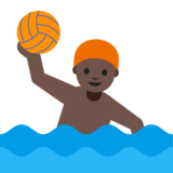 Man Playing Water Polo: Dark Skin Tone on Google Android 7.1