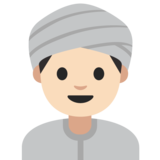 Man Wearing Turban: Light Skin Tone on Google Android 7.1
