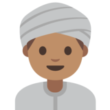 Man Wearing Turban: Medium Skin Tone on Google Android 7.1