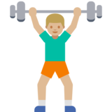 Man Lifting Weights: Medium-Light Skin Tone on Google Android 7.1