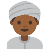 Person Wearing Turban: Medium-Dark Skin Tone on Google Android 7.1