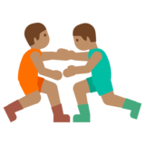 Men Wrestling, Type-4 on Google Android 7.1