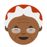 Mrs. Claus: Medium-Dark Skin Tone on Google Android 7.1