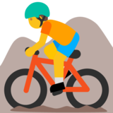 Person Mountain Biking on Google Android 7.1
