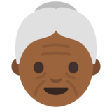 Old Woman: Medium-Dark Skin Tone on Google Android 7.1