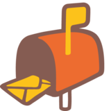 Open Mailbox With Raised Flag on Google Android 7.1