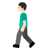 Person Walking: Light Skin Tone on Google Android 7.1