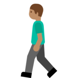 Person Walking: Medium Skin Tone on Google Android 7.1
