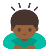 Person Bowing: Medium-Dark Skin Tone on Google Android 7.1
