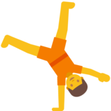 Person Cartwheeling on Google Android 7.1