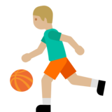 Person Bouncing Ball: Medium-Light Skin Tone on Google Android 7.1