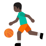 Person Bouncing Ball: Dark Skin Tone on Google Android 7.1