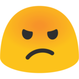 Pouting Face on Google Android 7.1