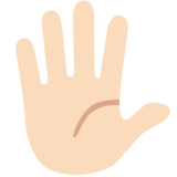 Hand with Fingers Splayed: Light Skin Tone on Google Android 7.1