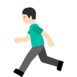 Person Running: Light Skin Tone on Google Android 7.1