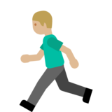 Person Running: Medium-Light Skin Tone on Google Android 7.1