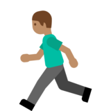 Person Running: Medium Skin Tone on Google Android 7.1