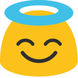 Smiling Face With Halo on Google Android 7.1
