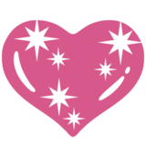 Sparkling Heart on Google Android 7.1