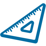 Triangular Ruler on Google Android 7.1