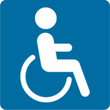 Wheelchair Symbol on Google Android 7.1