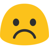 Frowning Face on Google Android 7.1