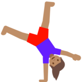 Woman Cartwheeling: Medium Skin Tone on Google Android 7.1