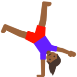 Woman Cartwheeling: Medium-Dark Skin Tone on Google Android 7.1