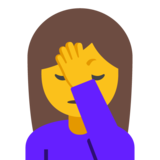 Woman Facepalming on Google Android 7.1