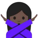 Woman Gesturing No: Dark Skin Tone on Google Android 7.1