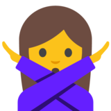 Woman Gesturing No on Google Android 7.1