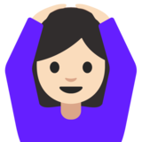 Woman Gesturing OK: Light Skin Tone on Google Android 7.1