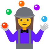 Woman Juggling on Google Android 7.1