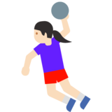 Woman Playing Handball: Light Skin Tone on Google Android 7.1