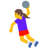 Woman Playing Handball on Google Android 7.1