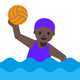 Woman Playing Water Polo: Dark Skin Tone on Google Android 7.1