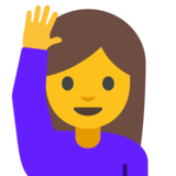 Woman Raising Hand on Google Android 7.1