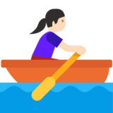 Woman Rowing Boat: Light Skin Tone on Google Android 7.1
