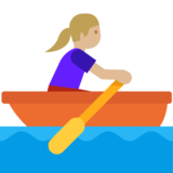 Woman Rowing Boat: Medium-Light Skin Tone on Google Android 7.1