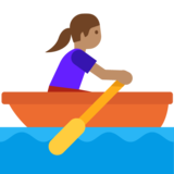 Woman Rowing Boat: Medium Skin Tone on Google Android 7.1