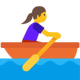 Woman Rowing Boat on Google Android 7.1