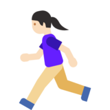 Woman Running: Light Skin Tone on Google Android 7.1