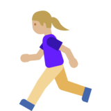 Woman Running: Medium-Light Skin Tone on Google Android 7.1