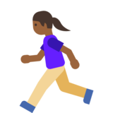 Woman Running: Medium-Dark Skin Tone on Google Android 7.1