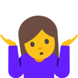 Woman Shrugging on Google Android 7.1